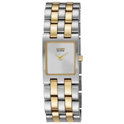 EX1304-51A Citizen Watch Stainless Steel with Yellow Gold Ion Plating Eco-Drive Ladies